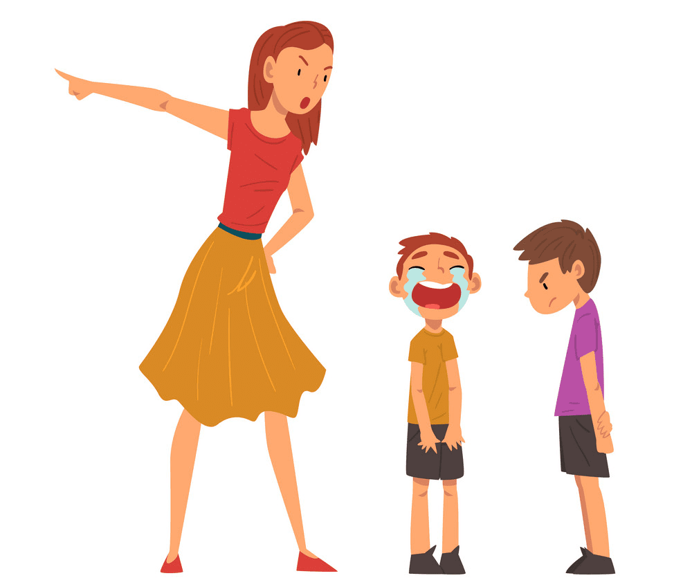 Angry Mom clipart free