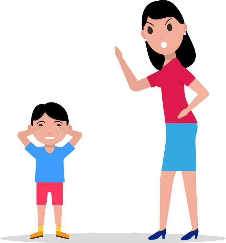 Angry Mom clipart