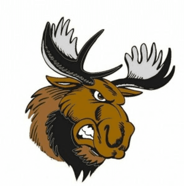 Angry Moose Head clipart free