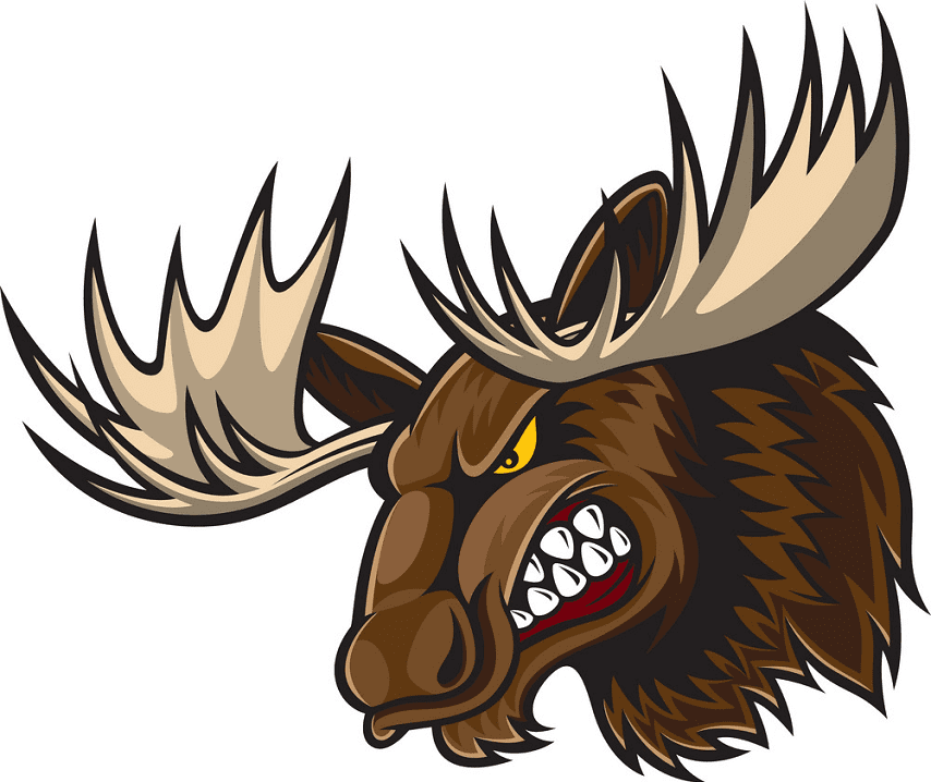 Angry Moose Head clipart