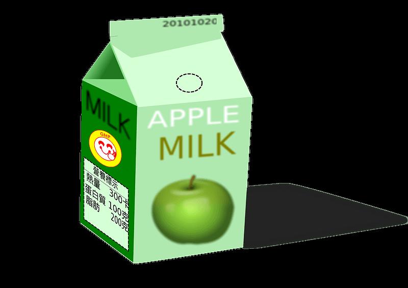 Apple Milk clipart transparent