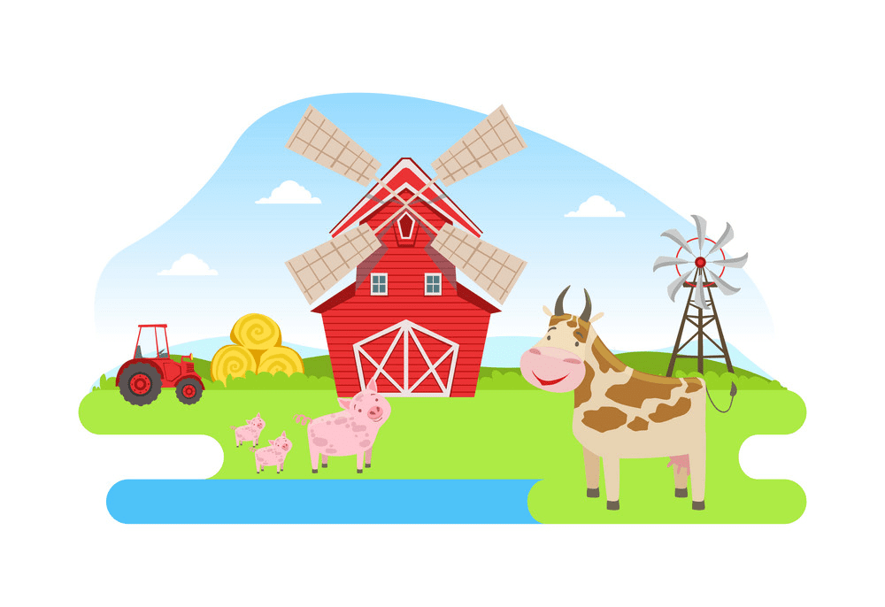 Barn Animals clipart free images