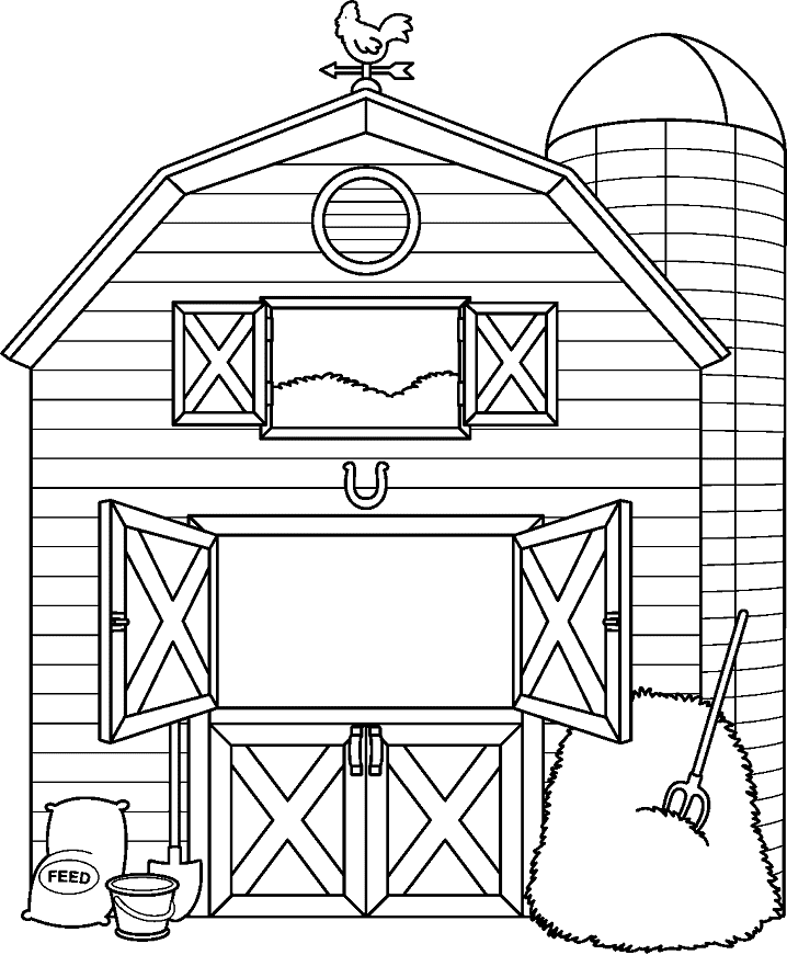 Barn Clipart Black and White 1