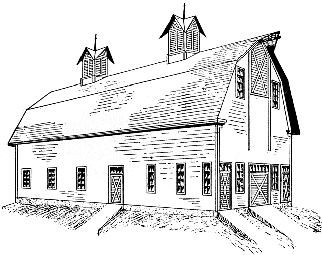 Barn Clipart Black and White 4
