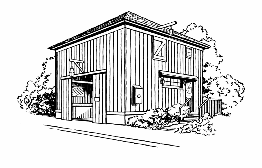 Barn Clipart Black and White 5