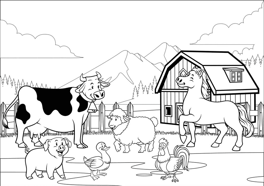 Barn Clipart Black and White free image