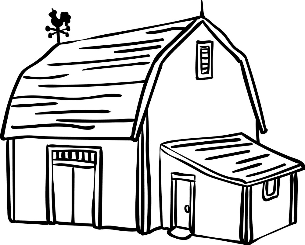 Barn Clipart Black and White free images