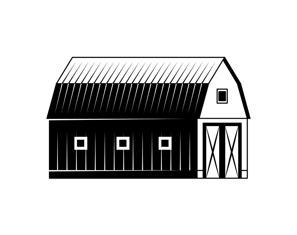 Barn Clipart Black and White image