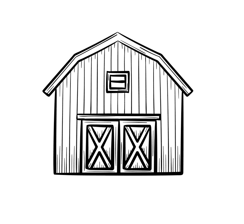 Barn Clipart Black and White png free