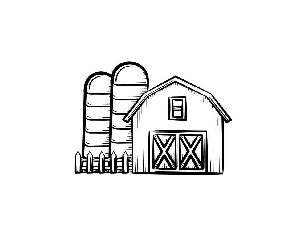 Barn Clipart Black and White png image