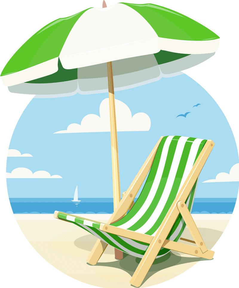 Beach Chair clipart 5
