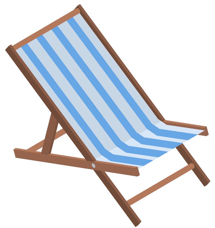 Beach Chair clipart for free