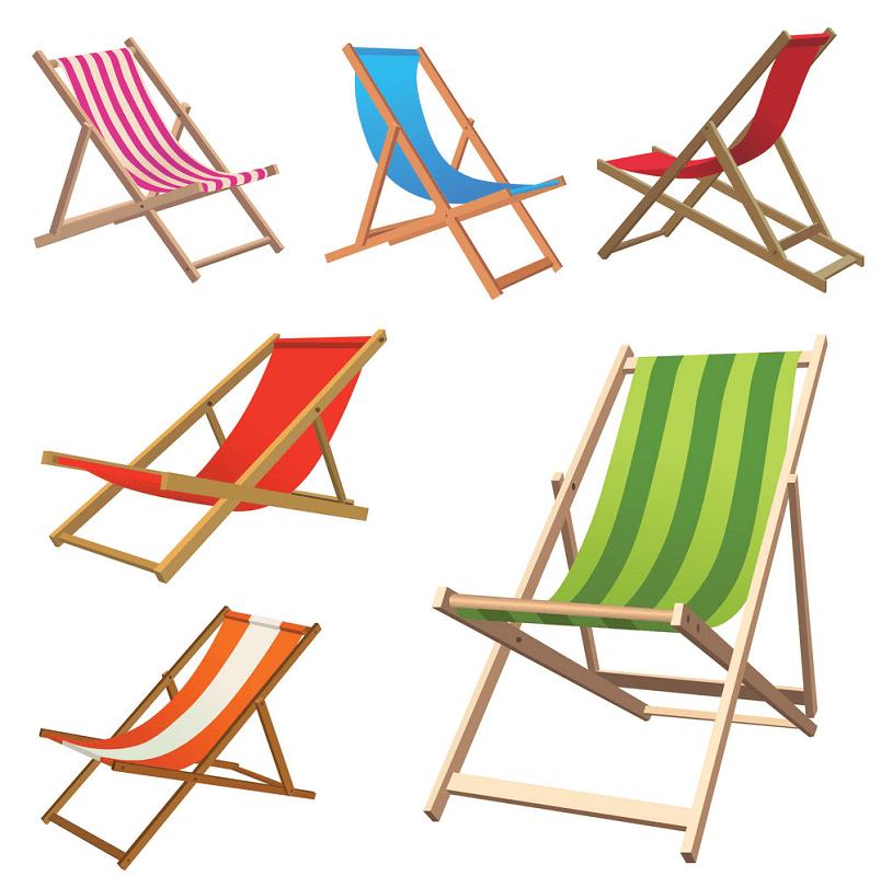 Beach Chair clipart free image