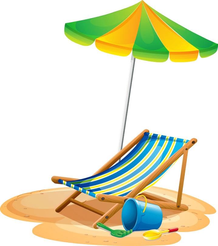 Beach Chair clipart free images