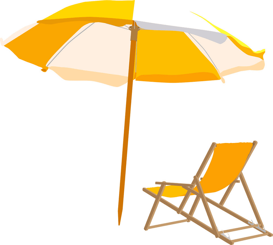 Beach Chair clipart free