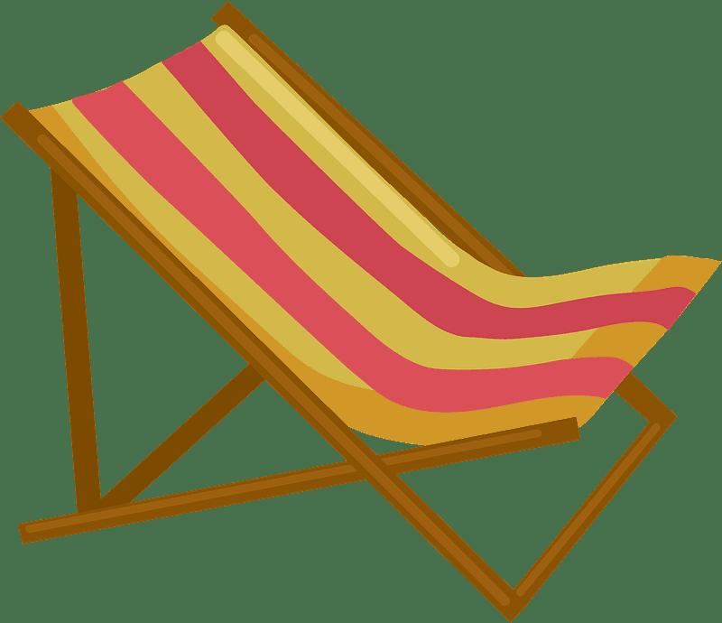 Beach Chair clipart transparent