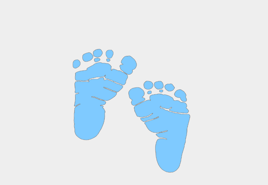 Blue Baby Feet clipart free image