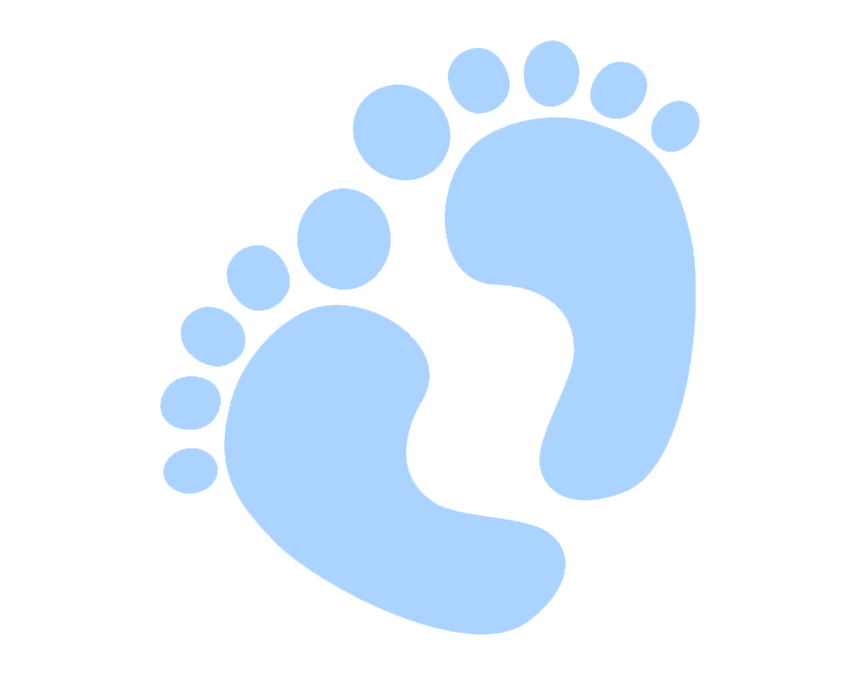Blue Baby Feet clipart image