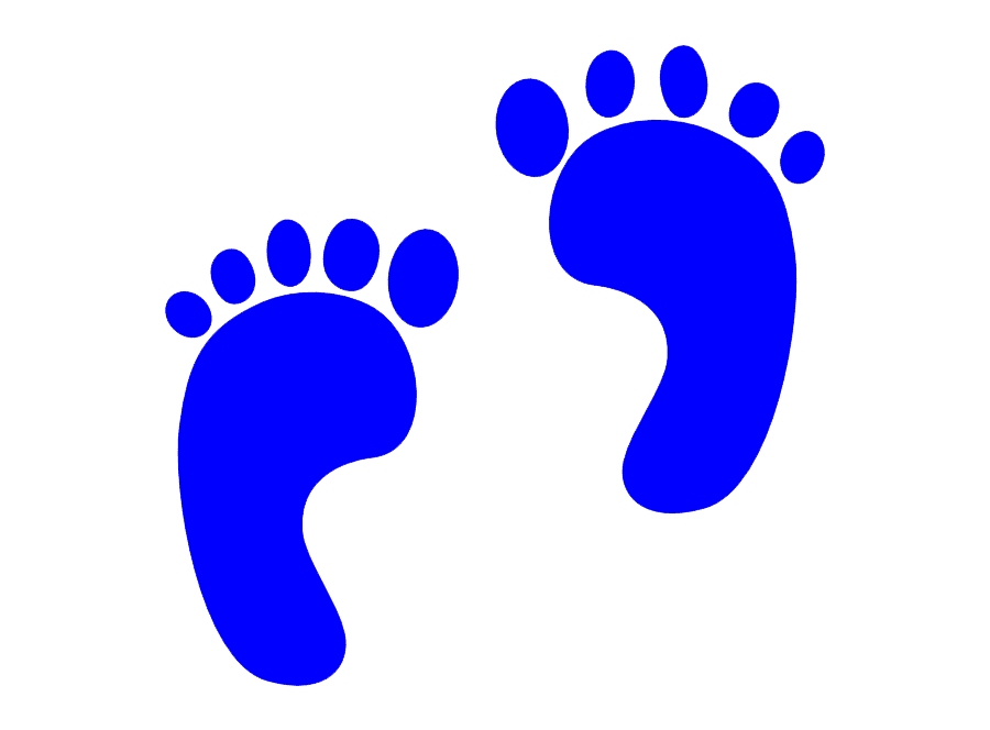 Blue Baby Feet clipart images