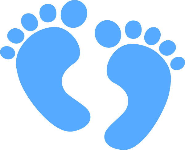 Blue Baby Feet clipart png free