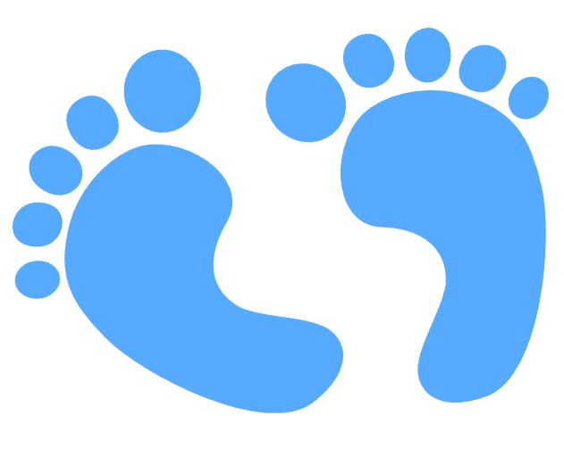 Blue Baby Feet clipart
