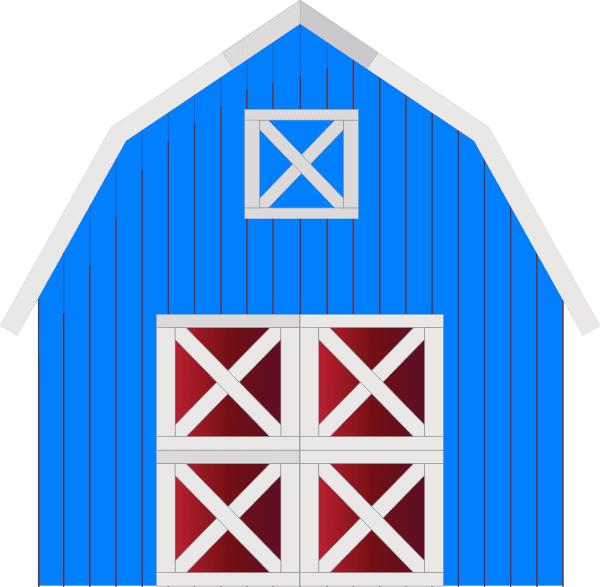 Blue Barn clipart