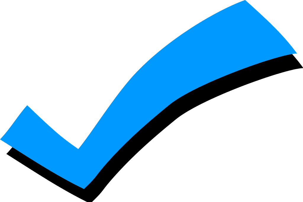 Blue Check Mark clipart free images