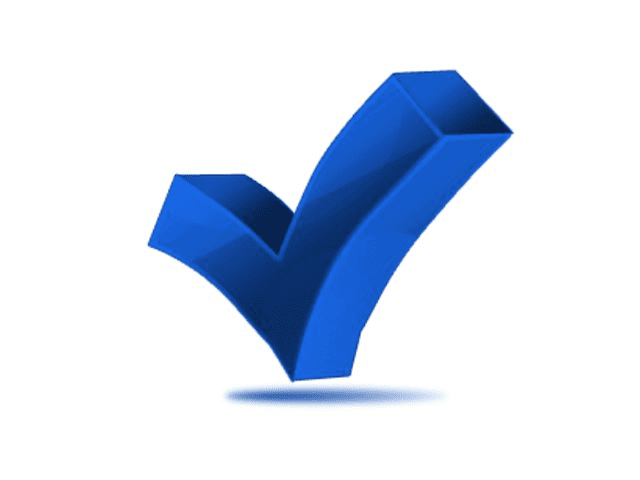 Blue Check Mark clipart png image