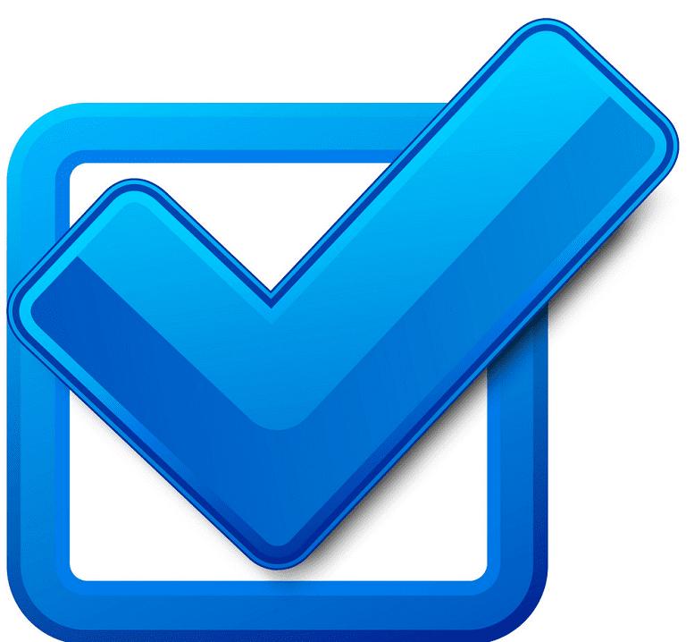 Blue Check Mark clipart