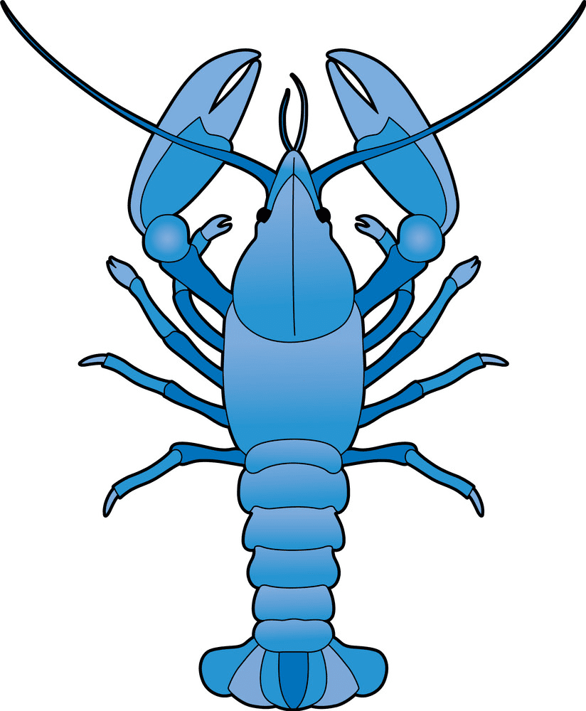 Blue Lobster clipart