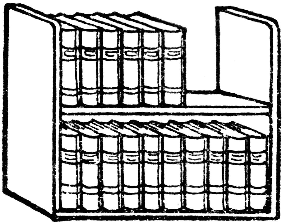 Bookshelf Clipart Black and White free image