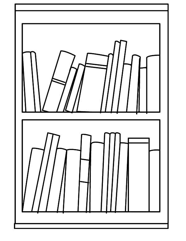 Bookshelf Clipart Black and White png images