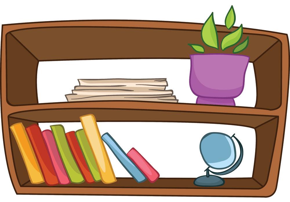Bookshelf clipart 10