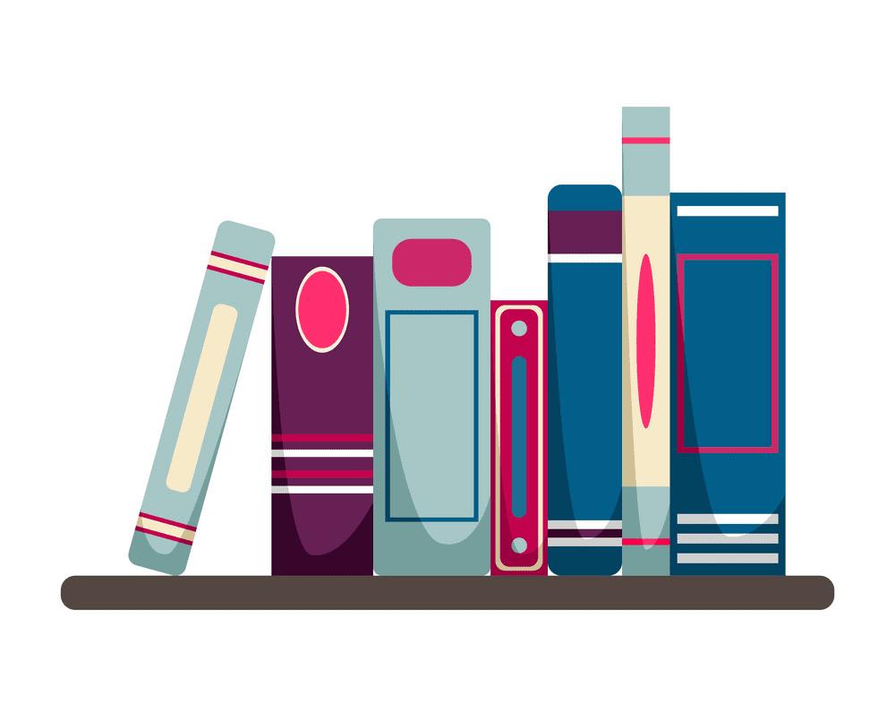 Bookshelf clipart 2
