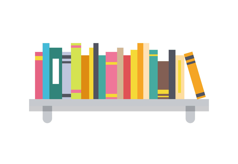 Bookshelf clipart 3