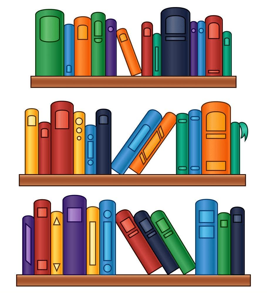 Bookshelf clipart 4