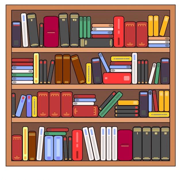 Bookshelf clipart 5