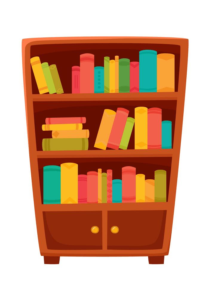 Bookshelf clipart 6