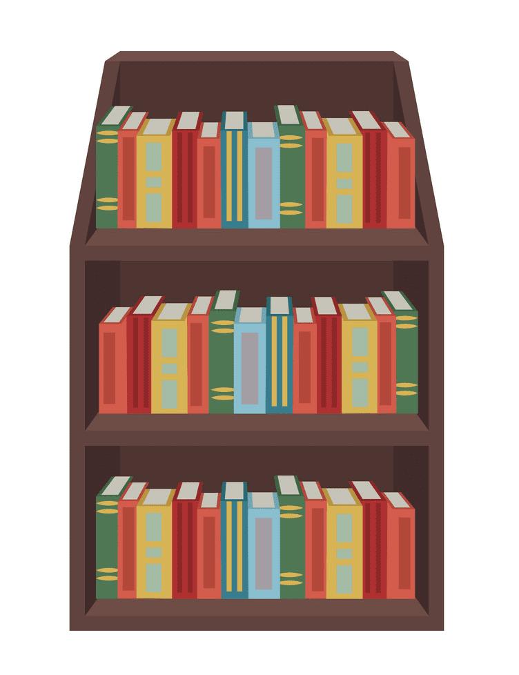 Bookshelf clipart 7