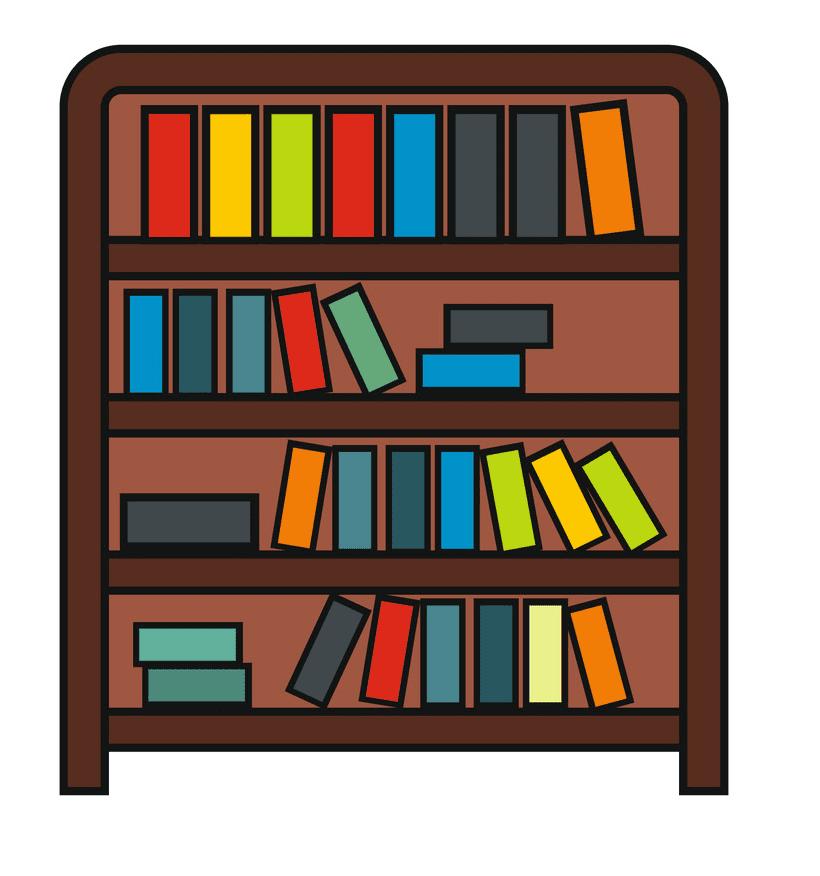 Bookshelf clipart 8