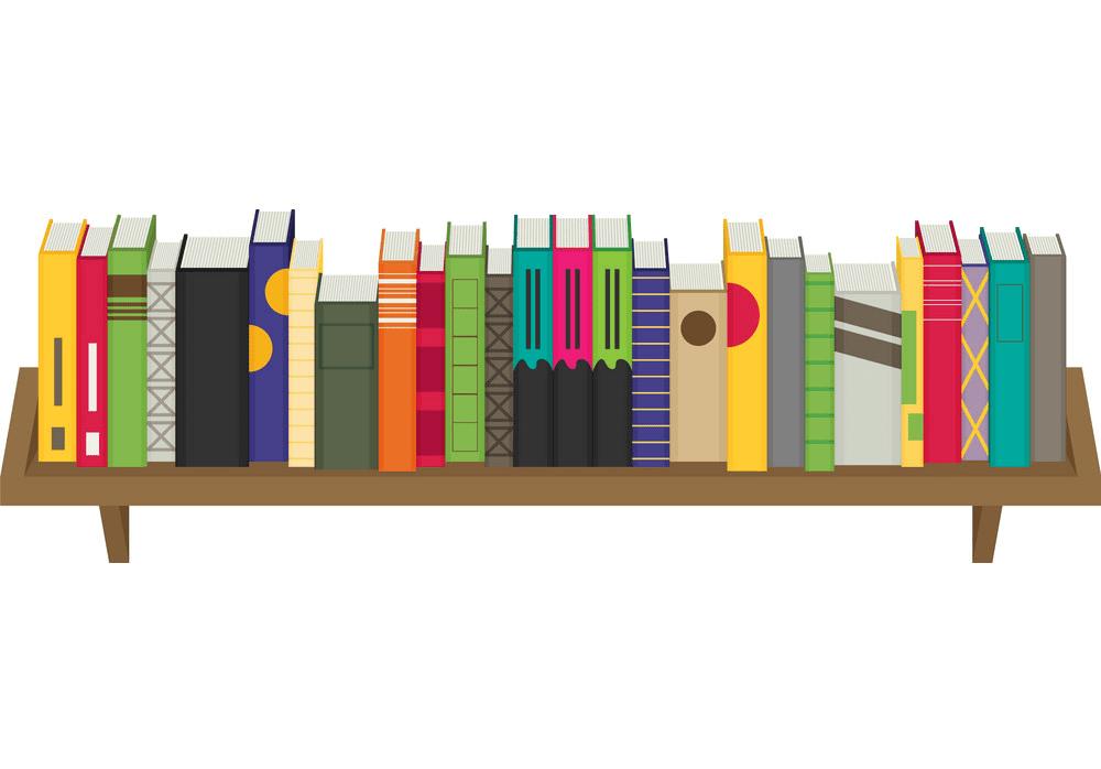 Bookshelf clipart free image