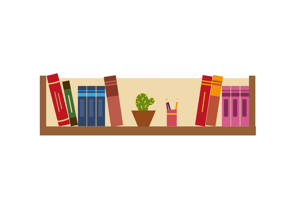 Bookshelf clipart free images