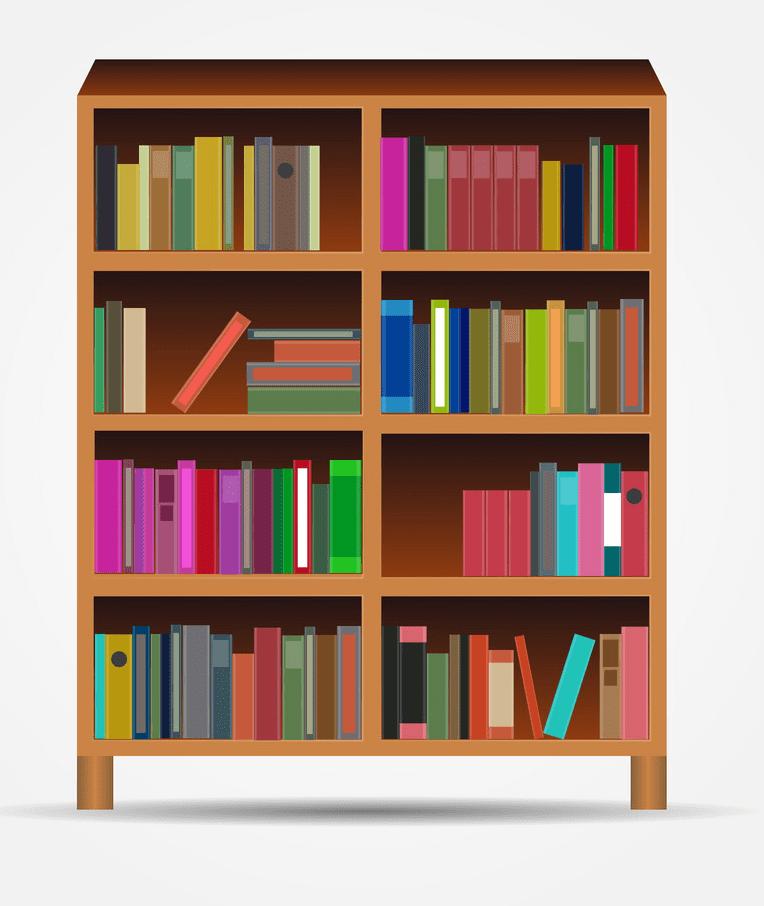 Bookshelf clipart free