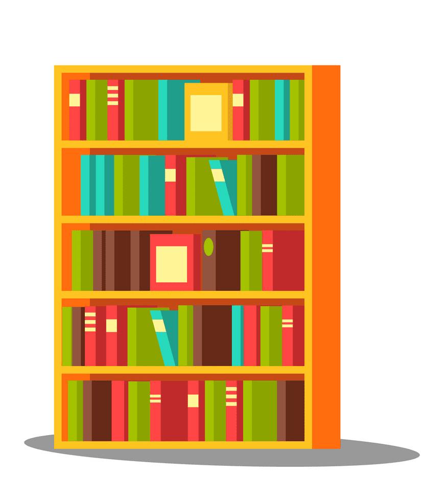 Bookshelf clipart images