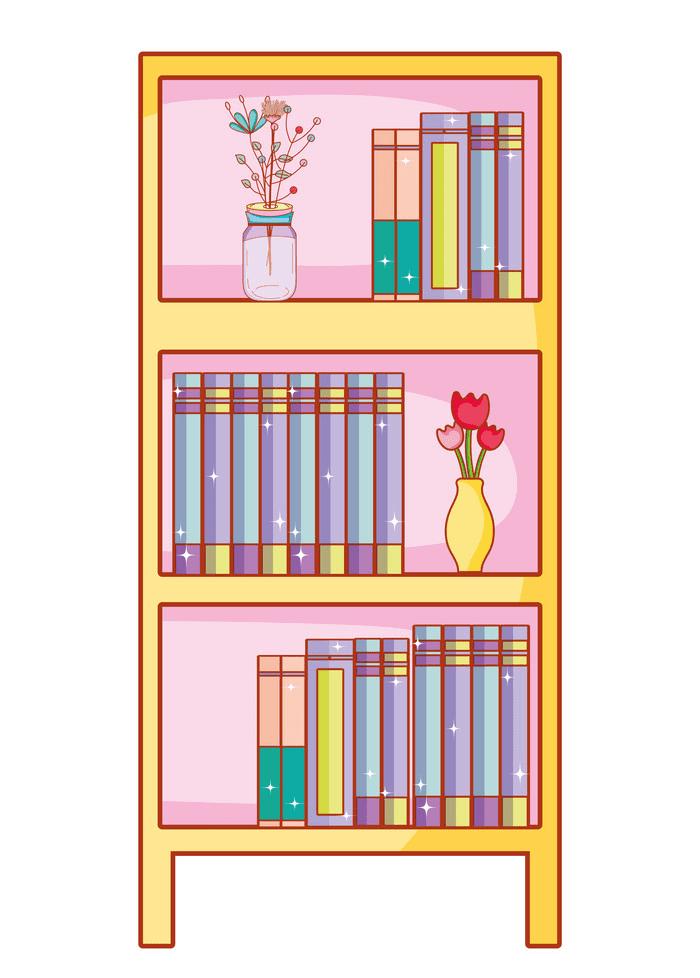 Bookshelf clipart picture