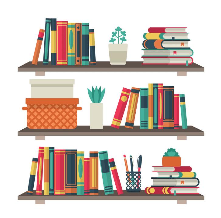 Bookshelf clipart png