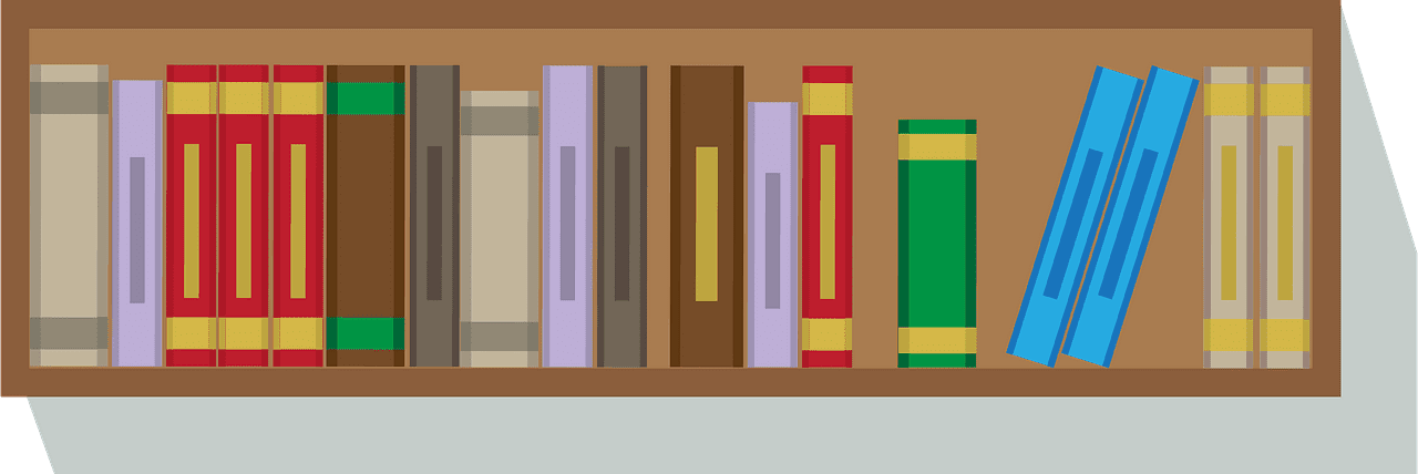 Bookshelf clipart transparent 1