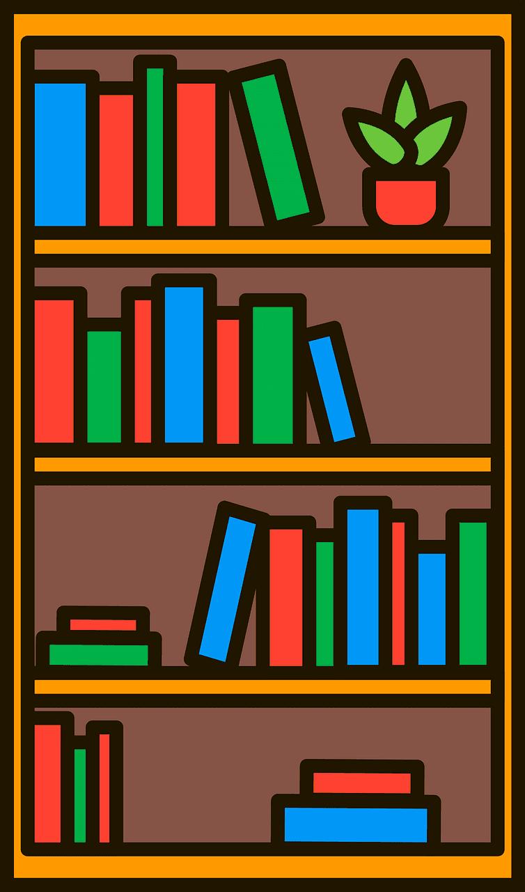 Bookshelf clipart transparent 10