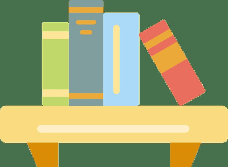 Bookshelf clipart transparent 2
