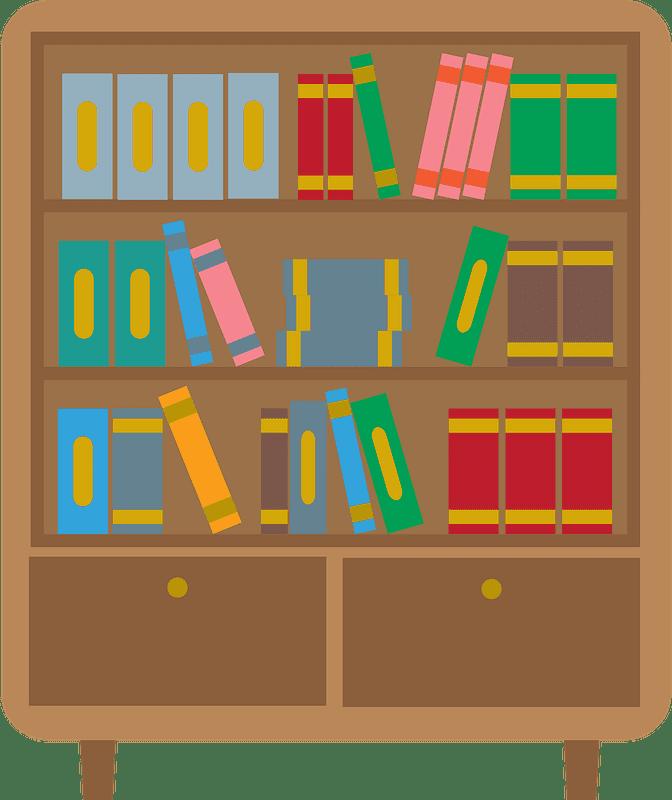 Bookshelf clipart transparent 4